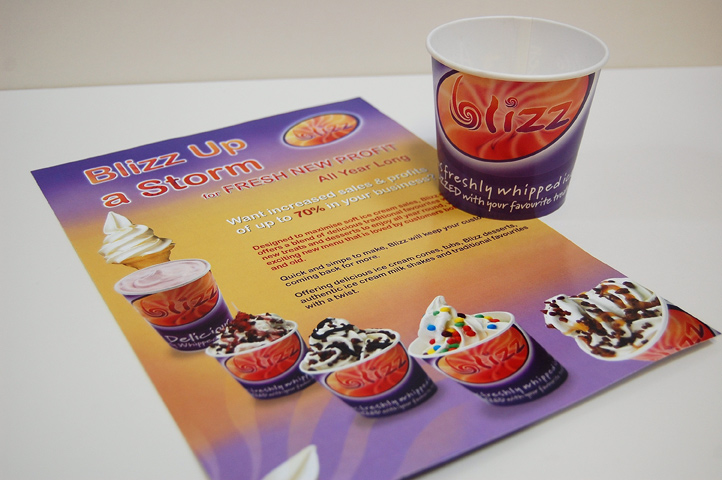 Martin Food Equipment - Blizz Flyer & Cup